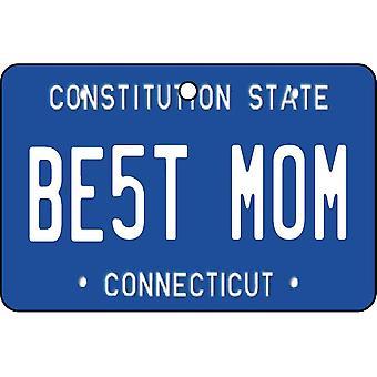 Connecticut - Best Mom License Plate Car Air Freshener
