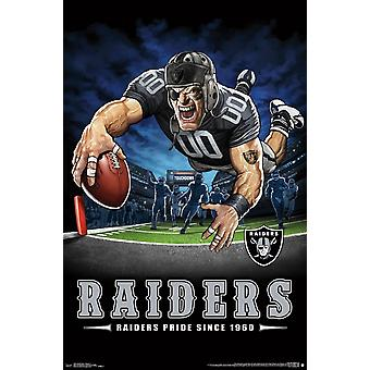 Oakland Raiders - End Zone Poster Print