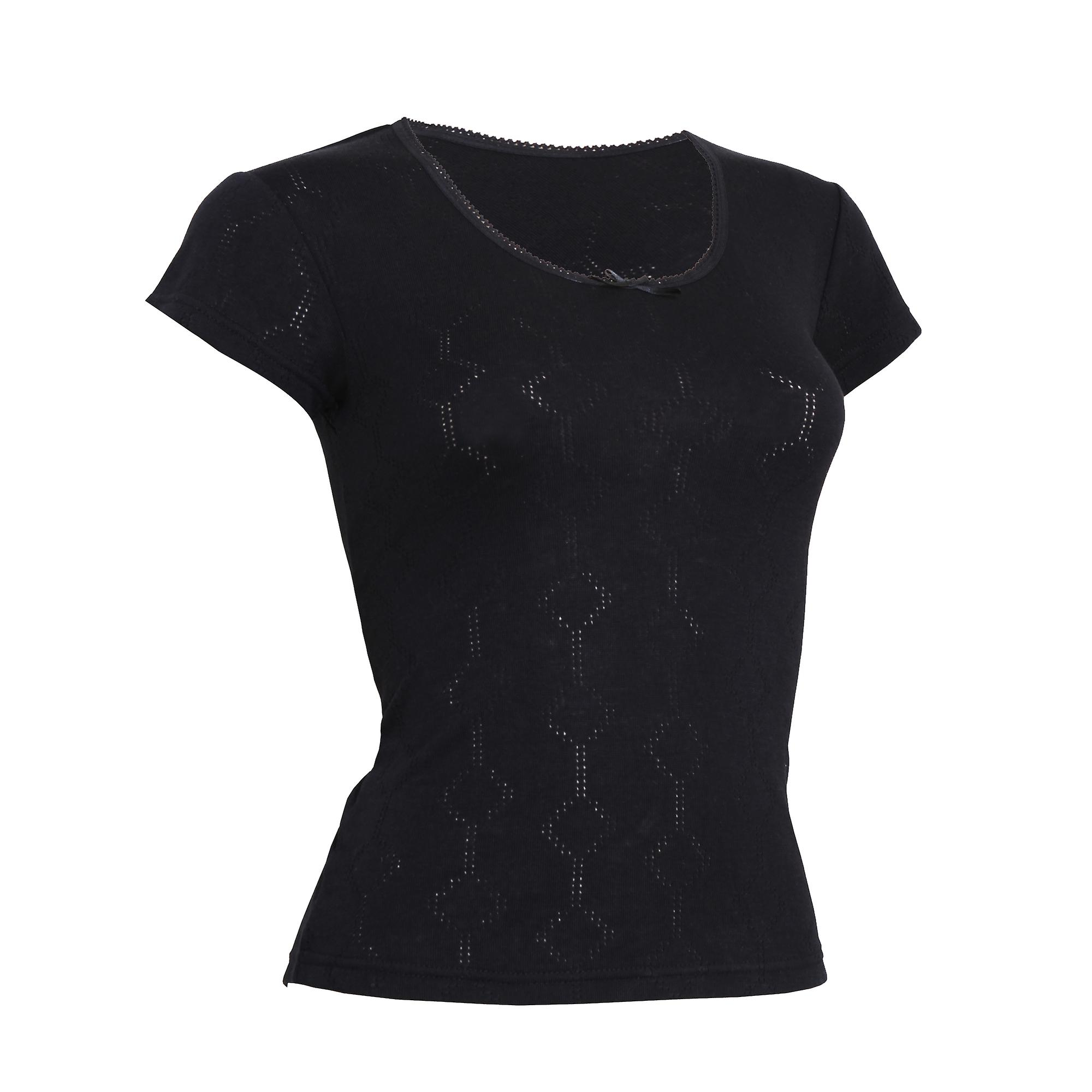FLOSO Ladies/Womens Thermal Underwear Short Sleeve T-Shirt (Viscose Premium Range)