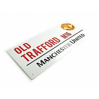 Manchester United FC offisielle fotball Metal Street Logg