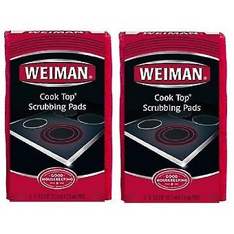 Weiman Cook Top Scrubbing Pads 2 Pack