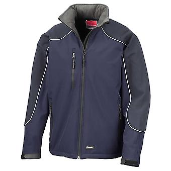 Result Mens 3 Layer Soft Shell Windproof and Breathable Jacket