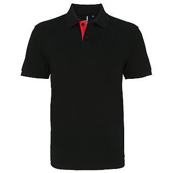 Asquith & Fox Mens Classic Fit - Kontrast Polo-Shirt