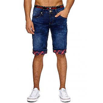 Men's Jeans Shorts Stonewashed Stretch Strap short trousers denim Cargo Summer Capri