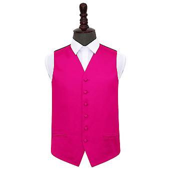 Hot Pink oformaterad Satin Bröllop väst