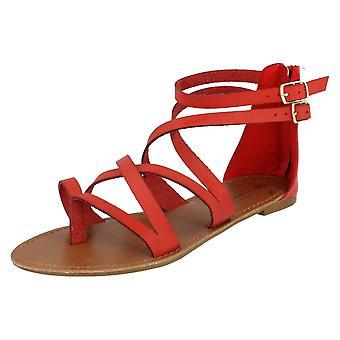 Las señoras mancha en tobillo sandalias Gladiator