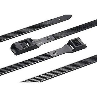 HellermannTyton 112-35060 RPE350-HSW-BK-C1 Cable tie 350 mm 9 mm Black Heavy duty, UV-proof, Heat-resistant, Releasable 1 pc(s)