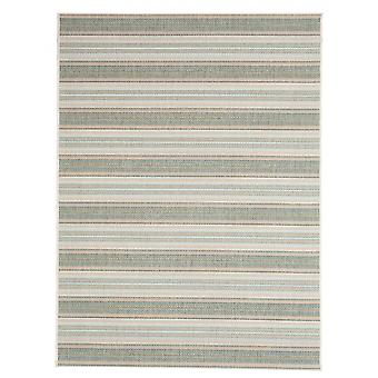 In - and outdoor carpet balcony / living room Riga green blue beige 160 x 230 cm