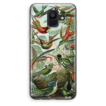 Samsung Galaxy A6 (2018) transparentes Gehäuse (Soft) - Haeckel Trochilidae