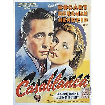 Cartel de Casablanca Humphrey Bogart, Ingrid Bergman (Francés) 88 x 67,5 cm