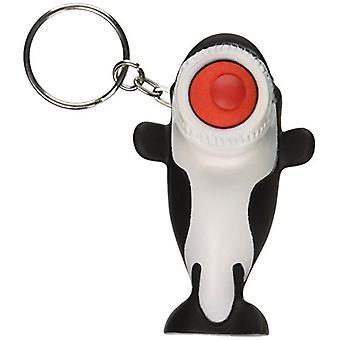 Hog Wild Toys Popper Orca Keychain