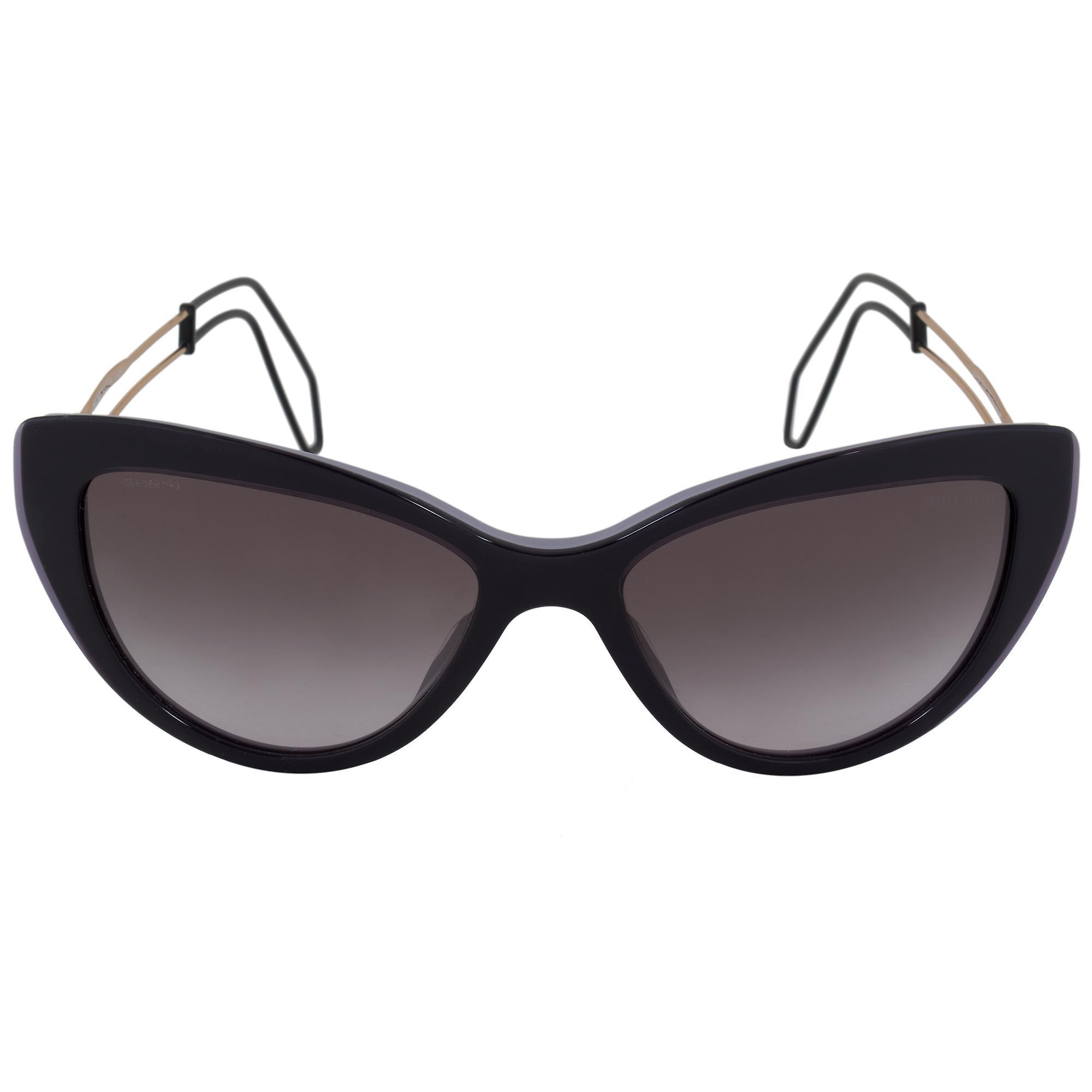 Miu Miu Cat Eye Sunglasses SMU12RS USN3E2 55   Purple Frame   Gray Gradient Lenses