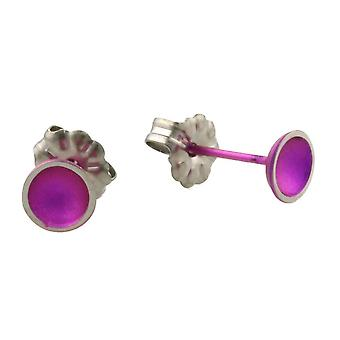 Ti2 Titan liten kupol örhängen - Candy Pink