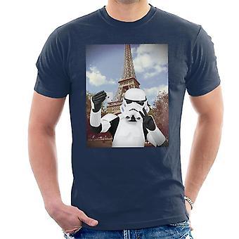 Original Stormtrooper Selfie Eiffeltornet mäns T-Shirt
