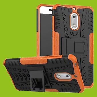For Nokia 3.1 5.2 inch 2018 hybrid case 2 piece SWL outdoor Orange accessories bag case cover protection
