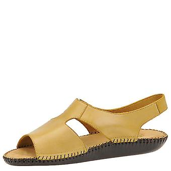Auditions Womens Spirit Leather Open Toe Casual Slingback Sandals
