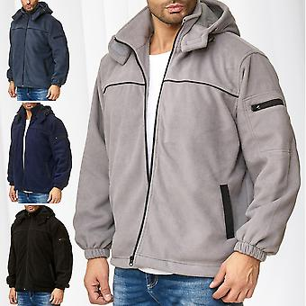 Giacca uomo in pile giacca Thermo camicia esterna Workwear Hoodie Zip transizione