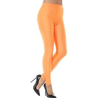 80's Disco Spandex Leggings, Neon Orange