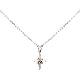 Maritim Nautics-kaula koru North Star Polar Star 925 hopea, kullattu tai ruusu