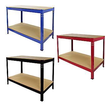 Garage Workbench Storage Shelving Boltless Heavy Duty Metal Work Table DIY Tools