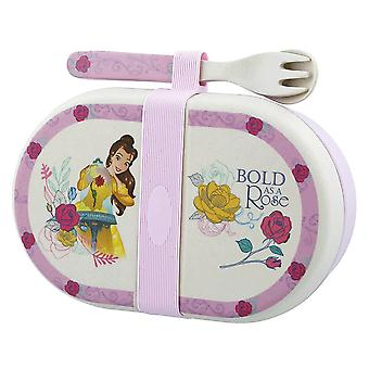 Disney Belle Organic Snack Box with Cutlery Set