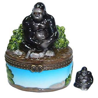 Great Apes Gorilla Porcelain Hinged Trinket Box