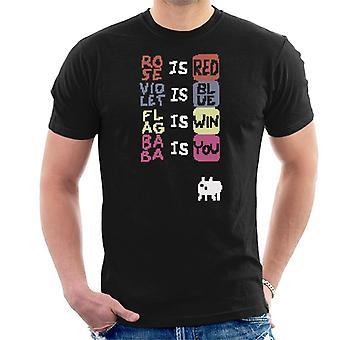 Baba is You Poem-T-shirt til mænd