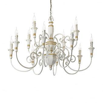 Ideale Lux Palio 12 Glühbirne Anhänger Licht weiß