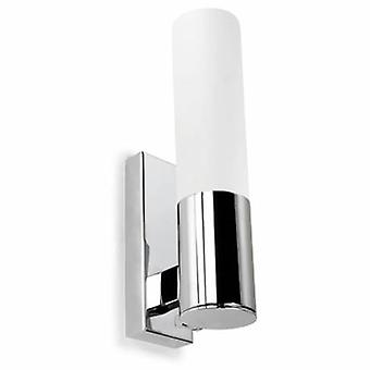 1 Light Bathroom Wall Light Chrome Ip44