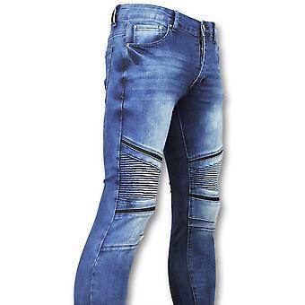 Tight Jeans - Biker Jeans - Blue