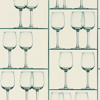 Rasch Wine Glass Pattern Wallpaper Realistic Shelf Effect Embossed Kitchen 879810