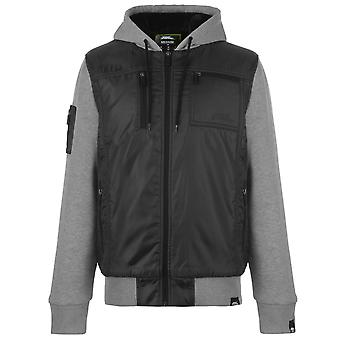 No Fear Mens Lined Zip Jacket Hooded Long Sleeve Top