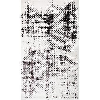 Pierre Cardin design matta i akryl Grädde/Svart