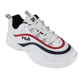 Sneakers Casual rij Ray laag wit/navy/rood 0000083653_0