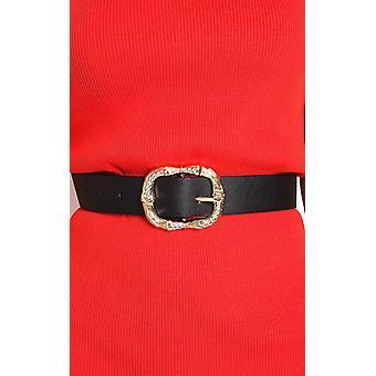 IKRUSH Womens Cowan Diamante Detail Buckle Belt