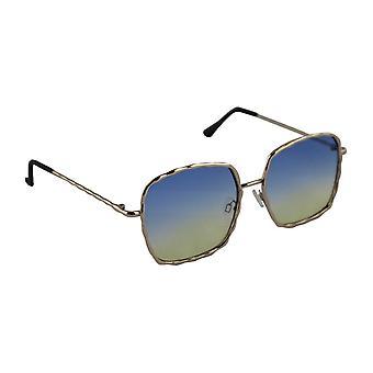 Sunglasses UV 400 Square gold Blue halfHL206_6