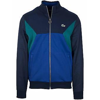 Lacoste Sport Navy & Green Zip Top