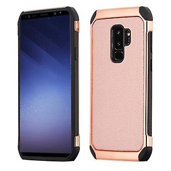 SAMSUNG GALAXY S9 PLUS ASMYNA ROSE GOLD LYCHEE GRAIN/(ROSE GOLD PLATING)/BLACK ASTRONOOT CASE