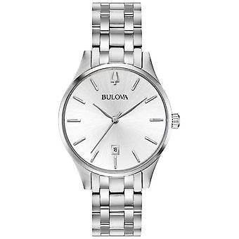 Bulova Women's RVS Silver Dial datum 96M 148 Watch