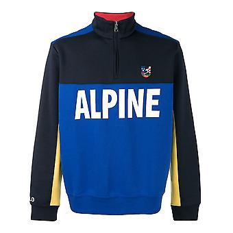 Tröja i alpin stil med blixtlås