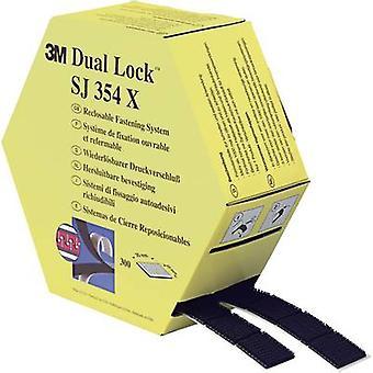 3M SJ354X Dual Lock Hook-and-loop tape stick-on Mushroom hooks (L x W) 7500 mm x 25 mm Black 1 Pair