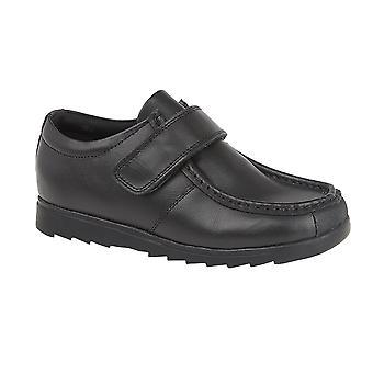 Roamers Boys Leather One Bar School Shoes
