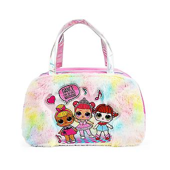 Hand Bag - LOL Surprise - Fur Rainbow Pink Duffle Purse 865914