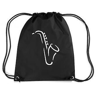 Black backpack dec0288 saxophone