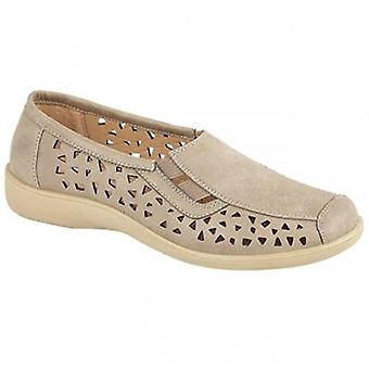 Boulevard Marsha Ladies Cut-out Slip-on Shoes Stone