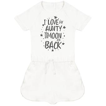 I Love My Aunty To The Moon And Back Baby Playsuit