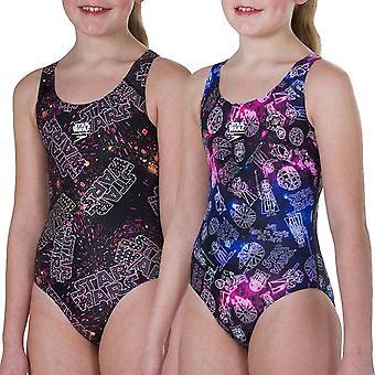 Speedo Mädchen Star Wars Allover schwimmen ein Stück Schwimmen Kostüm Badeanzug
