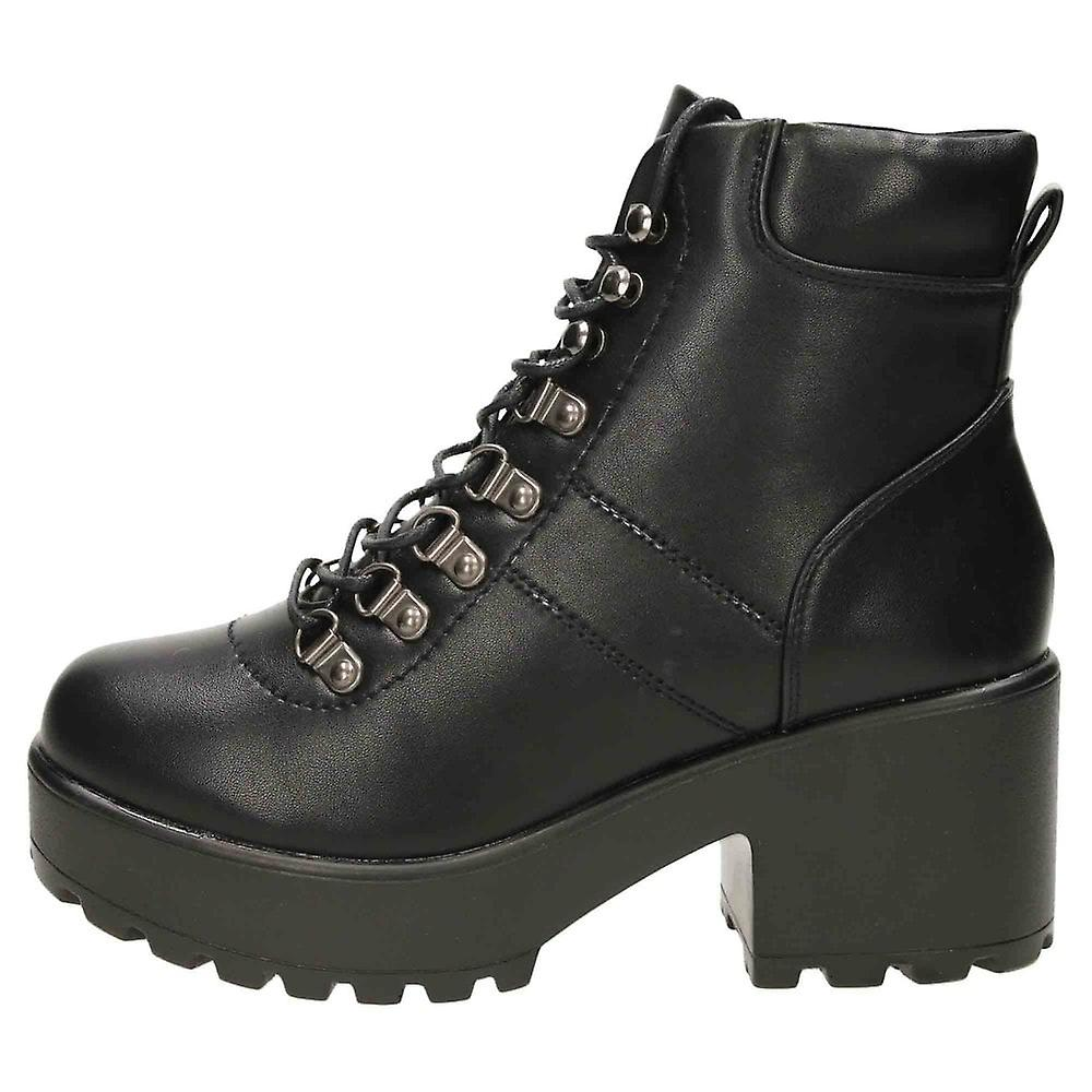 Koi Footwear Chunky Heel Platform Ankle Lace Up Boots