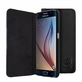 Bugatti BookCover Oslo Echtledertasche für Samsung Galaxy S6 G920 G920F Schwarz