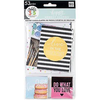 Happy Memory Keeping Big Pocket Cards 53/Pkg-W/Foil
